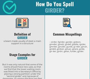 Correct spelling for girder