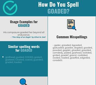 Correct spelling for goaded