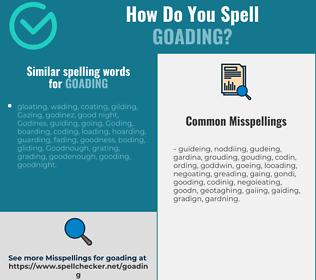 Correct spelling for goading