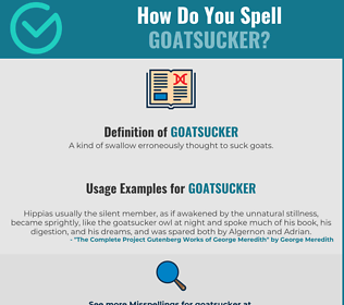 Correct spelling for goatsucker