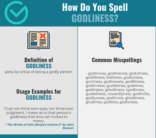 Correct spelling for godliness