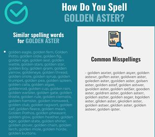 Correct spelling for golden aster
