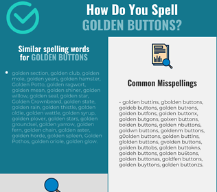 Correct spelling for golden buttons
