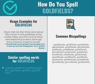 Correct spelling for goldfields