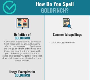Correct spelling for goldfinch