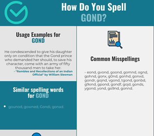 Correct spelling for gond