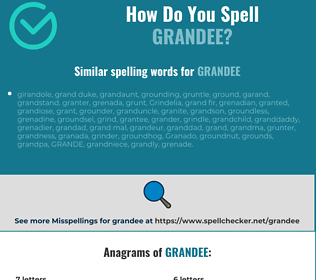 Correct spelling for grandee
