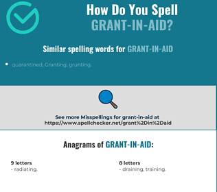 Correct spelling for grant-in-aid