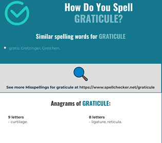 Correct spelling for graticule