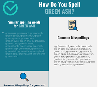 Correct spelling for green ash