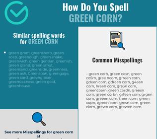 Correct spelling for green corn