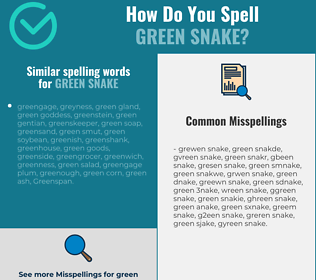 Correct spelling for green snake