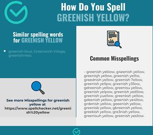 Correct spelling for greenish yellow