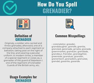 Correct spelling for grenadier