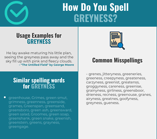 Correct spelling for greyness