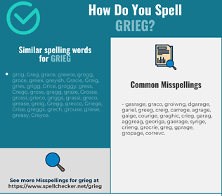 Correct spelling for grieg