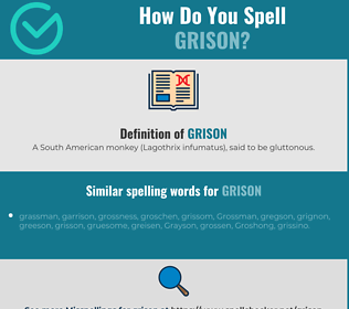 Correct spelling for grison