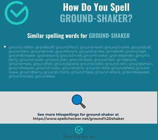 Correct spelling for ground-shaker