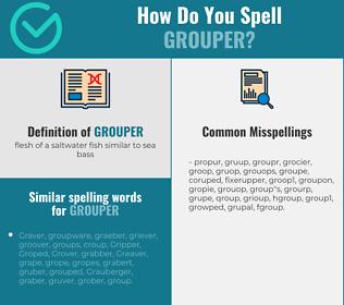 Correct spelling for grouper
