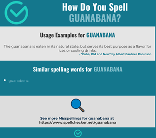 Correct spelling for guanabana