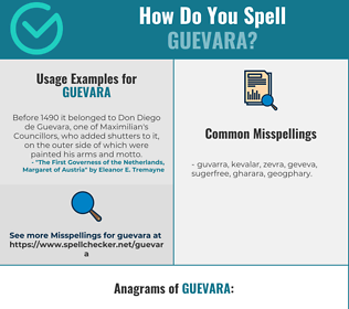 Correct spelling for guevara