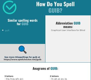 Correct spelling for guib