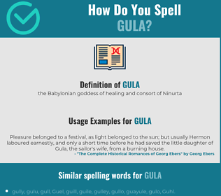 Correct spelling for gula