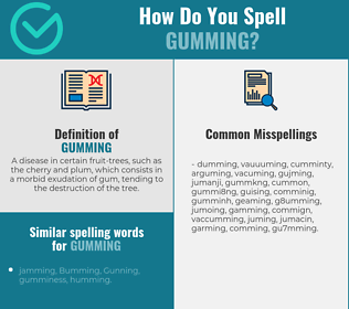 Correct spelling for gumming