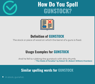 Correct spelling for gunstock