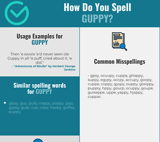Correct spelling for guppy
