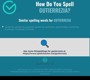 Correct spelling for gutierrezia