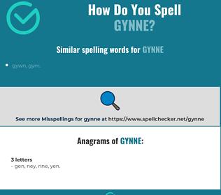 Correct spelling for gynne