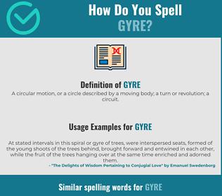 Correct spelling for gyre
