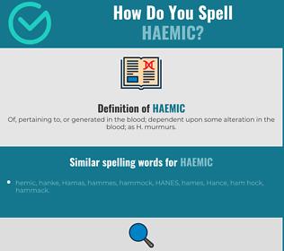 Correct spelling for haemic