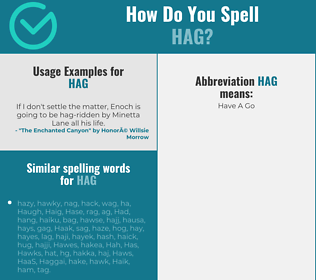 Correct spelling for hag