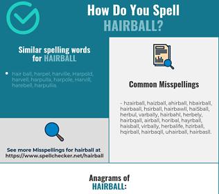 Correct spelling for hairball