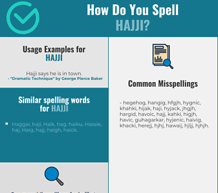 Correct spelling for hajji