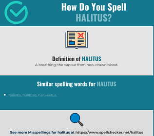 Correct spelling for halitus