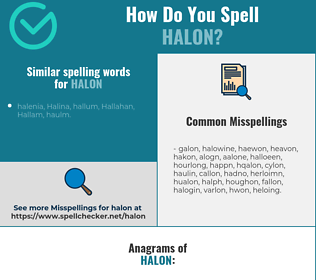 Correct spelling for halon