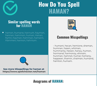 Correct spelling for haman