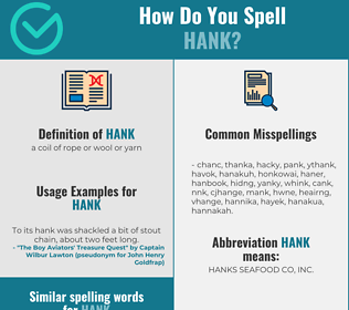 Correct spelling for hank