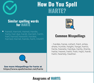 Correct spelling for harte