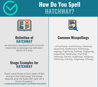 Correct spelling for hatchway