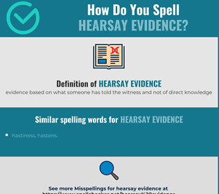 Correct spelling for hearsay evidence