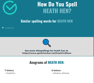 Correct spelling for heath hen