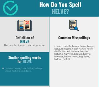 Correct spelling for helve