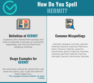Correct spelling for hermit