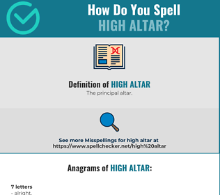 Correct spelling for high altar