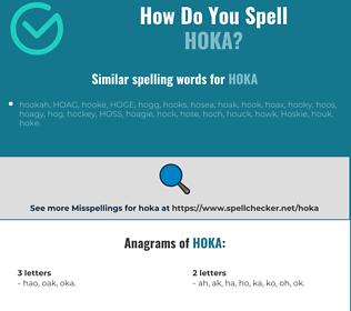 Correct spelling for hoka
