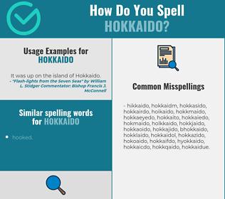 Correct spelling for hokkaido